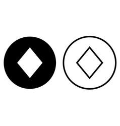 rhombus icons vector image