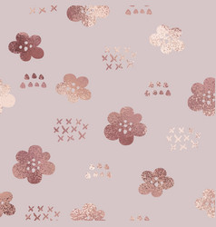 rose gold elegant texture with a floral pattern vector image