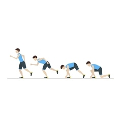 Running Man Step Positions Set vector
