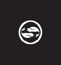 Salmon fish icon logo design template vector