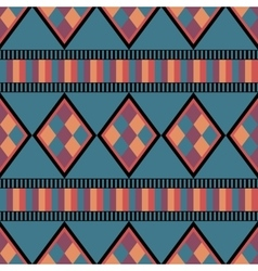 Seamless ethnic pattern with diamonds vector image