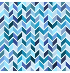 Seamless geometric pattern blue mosaic vector image