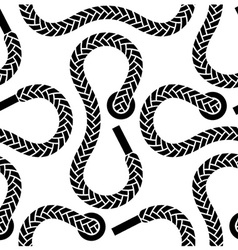 seamless monochrome shoelace pattern vector image