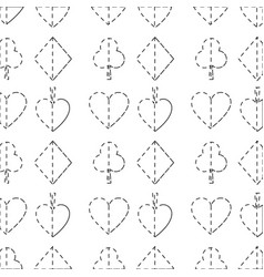 Seamless poker pattern with card suits casino vector