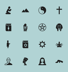 Set of 16 editable dyne icons includes symbols vector