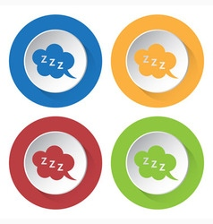 Set of four icons - ZZZ speech bubbles vector