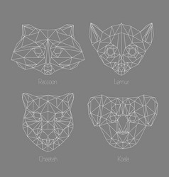 Set of isolated poligonal geometric triangle vector