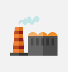 simple flat style factory building mining graphic vector image