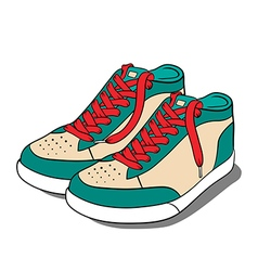 Sport shoes sneakers vector image