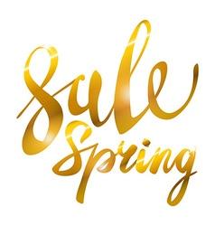 Spring Sale Gold inscription paint glitz glamor vector