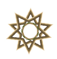 star-wood vector image