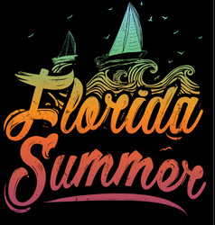 summer poster florida vector image vector image