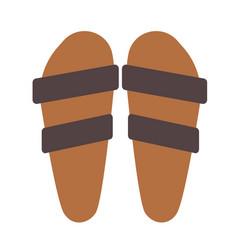 Summer sandals flat vector