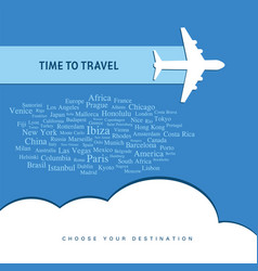 Time for travel icon vector