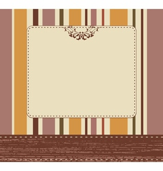 Vintage card background vector image