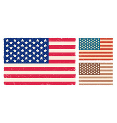 vintage flag usa vector image
