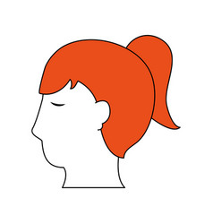 woman head silhouette vector image