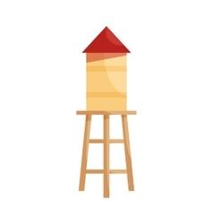 Wooden house icon cartoon style vector