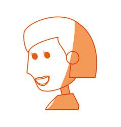 Young woman cartoon vector