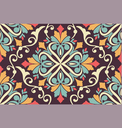 Zentangle styled geometric ornament pattern vector