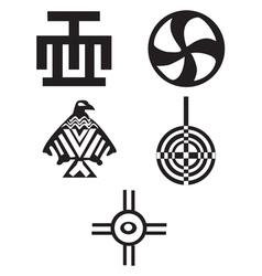 American Indian Symbols vector image