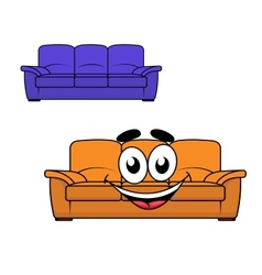 Cartoon couch furniture vector image