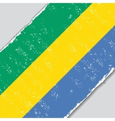 Gabon grunge flag vector image