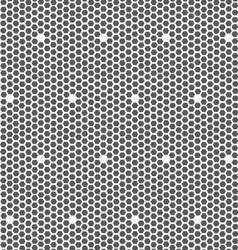 Gray small hexagons forming mosaic vector image vector image