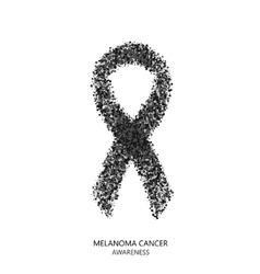 modern melanoma cancer awareness circles vector image