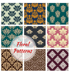 patterns set of floral seamless ornament vector image vector image