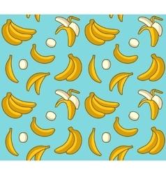 Seamless background of yellow bananas vector image vector image