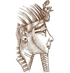 Gold tutankhamon mask vector