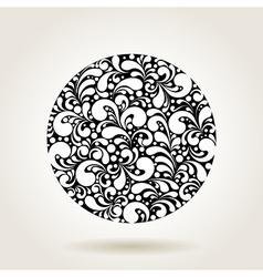 black curves circle1 vector image