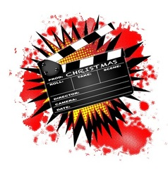 Christmas Clapperboard vector image