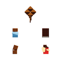 Flat icon chocolate set of wrapper shaped box vector