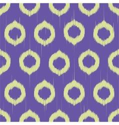 Ikat circles ethnic seamless pattern vector image