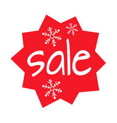 Christmas sale shaped icon on white background vector