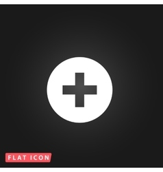 Medical cross flat icon vector image vector image