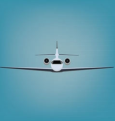 Private jet vector image vector image