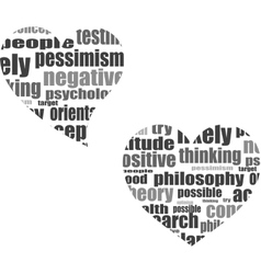 Social media love concept in word tag cloud vector image