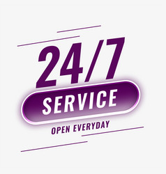 24 hours service open everyday background vector