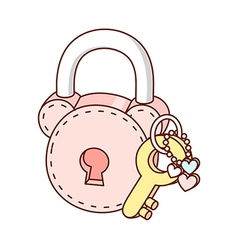 A lock and key vector