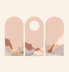 abstract landscape arches sun pastel colors vector image