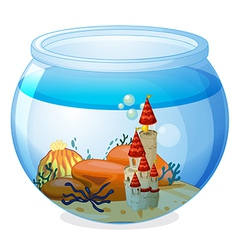 An aquarium with a palace vector image vector image