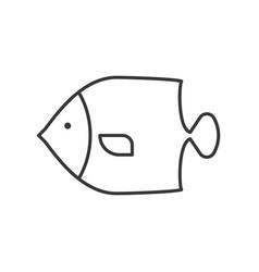 Angelfish icon set of ocean life line design vector