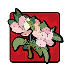 apple tree flower vector image