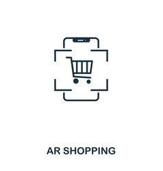 ar shopping icon mobile app printing web site vector image
