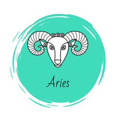 Aries astrology element for horoscope zodiac sign vector