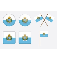 badges with flag of San Marino vector image