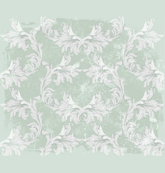 baroque pattern on an old fabric background vector image